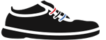 Smaller image of black shoe logo